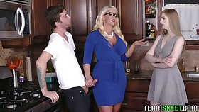 Young lady's man will never forget crazy threesome sex back girlfriend and her step mommy Alura Jenson