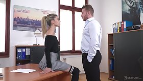 Light haired chick Ciara Riviera is naughty copyist who loves some steamy fuck