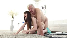 Excellent sex scenes with grandpa coupled with an obstacle sleazy young niece